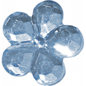 Button Mix Set # 03- Button 06- Crystal Blue Flower