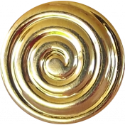 Button Mix Set #04- Golden Swirl Button # 09
