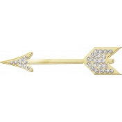 Shine- Gold Arrow With Diamonds
