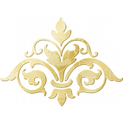 Shine- Gold Damask Piece