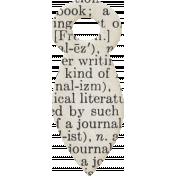 Jane- Dictionary Writing Fastener