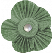 Jane- Green Fabric Flower