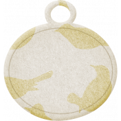 Jane- Cream Blank Round Tag