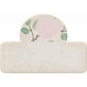 Jane- Cream Blank Tab With Flowers