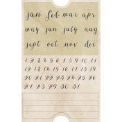 Jane- Mini Calendar Ticket