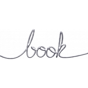 Jane- Handwritten Metal Word Art- Book