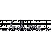 Jane- Handwritten Metal Word Art- Bookworm