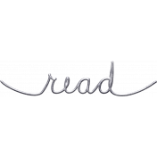 Jane- Handwritten Metal Word Art- Read