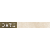Jane- Word Art- Brown Date Label