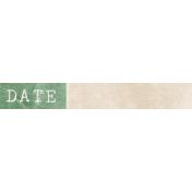 Jane- Word Art- Green Date Label