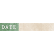 Jane- Word Art- Green Date Label