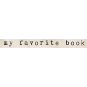 Jane- Word Art- My Favorite Book