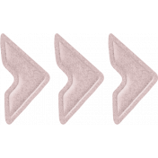 Jane- Pink Felt Chevron Arrow