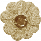 Jane- Tan and Brown Crochet Flower