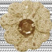 Jane- Tan and Brown Crochet Flower