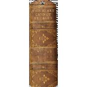 Jane- Brown Vintage Bookmark