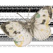Jane- Vintage Butterfly Sticker