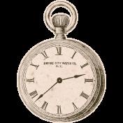 Jane- Vintage Clock Sticker