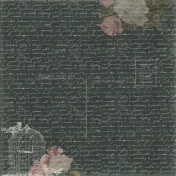 Jane- Black Writing With Roses Paper