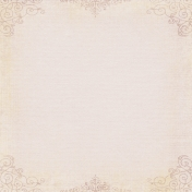 Jane- Cream Ornate Border Paper