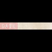 Jane- Word Art- Pink Date Label