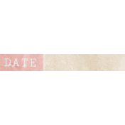 Jane- Word Art- Pink Date Label