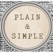 Jane- Word Art- Plain & Simple Tag
