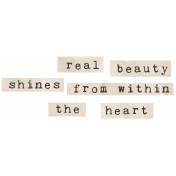 Jane- Word Art- Real Beauty Shines From Within