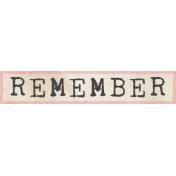 Jane- Word Art- Remember