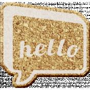 Corky Bits- Hello Speech Bubble