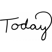 Shine- Handwritten Words Template- Today