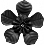 Renewal May 2015 Blog Train Mini Kit- Black Metal Flower