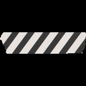 Renewal May 2015 Blog Train Mini Kit- Blaxk & White Striped Tape