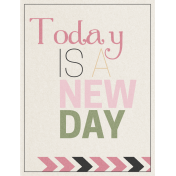 Renewal May 2015 Blog Train Mini Kit- Today Is A New Day Tag
