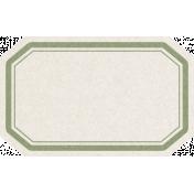 Renewal May 2015 Blog Train Mini Kit- Blank Green & White Tag