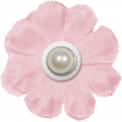 Renewal May 2015 Blog Train Mini Kit- Pink Fabric Flower With Pearl