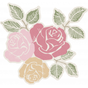 Renewal May 2015 Blog Train Mini Kit- Rose Cluster Sticker
