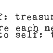 Renewal May 2015 Blog Train Mini Kit- Sentiment- Note To Self