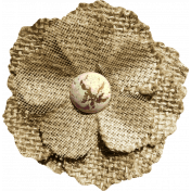 Rustic Charm Feb 2015 Blog Train Mini Kit- Burlap and Tulle Flower