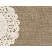 Rustic Charm Feb 2015 Blog Train Mini Kit- Burlap Doily