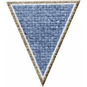 Rustic Charm Feb 2015 Blog Train Mini Kit- Blue Burlap Banner Piece