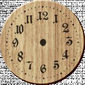 Rustic Charm Feb 2015 Blog Train Mini Kit- Wood Clock