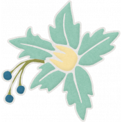 Shine- Teal Flower 01 Sticker