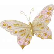 Shine- Pink & Gold Butterfly