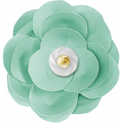 Shine- Large Teal Paper Flower