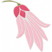 Shine- Pink Flower Sticker 02