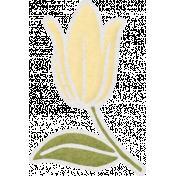 Shine- Yellow Flower Sticker 02
