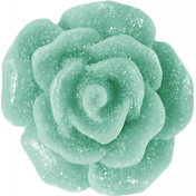 Shine- Teal Resin Flower Button