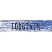 Reflections- April 2015 Blog Train Mini Kit- Forgiven Label
