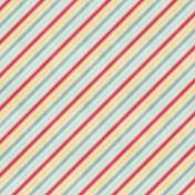 Birthday Wishes- Colorful Diagonal Stripe Paper